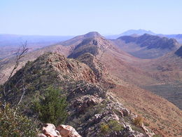 View along the West MacDonnell Ranges from Counts Point on the Larapinta Trail - May 2011
