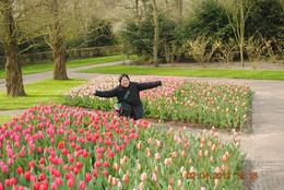One of my photos I love most in this tour. Being with these tulips is a dream come true! , Catherine C - May 2012
