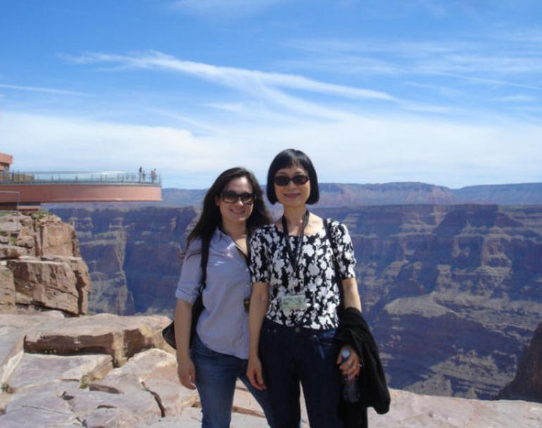 At the Grand Canyon Skywalk - Las Vegas