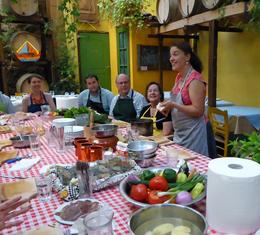 Learning about the delicious Greek food and traditions! , Thomas B - May 2014