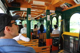 Shot from inside the beautiful trolley of the Boston Hop-on Hop-off! , Billie M - June 2013