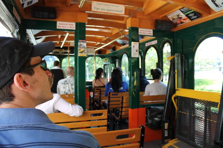 On Trolley - Boston