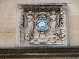 This is the official symbol or coat of arms for Oxford University , Robert L - July 2012