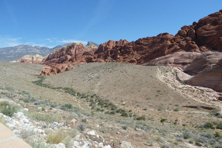 Red Rock Canyon from road. - Las Vegas