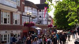 Outside the Globe Theatre, isa - August 2011