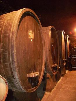 Inside the Castle tunnels, where the wine barrels are held. - September 2008