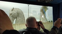 The Kelpies from the bus , andreas_raab - June 2017