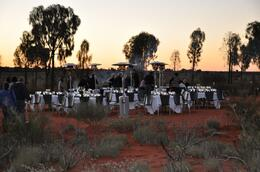 Dining under the stars at Sounds of Silence Restaurant, Ayers Rock, Giulio D - August 2010