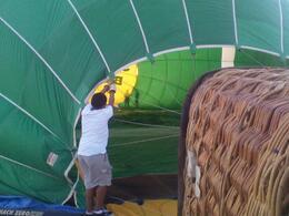 Inflating the balloon, Rose - November 2011