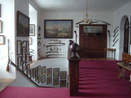 This is the main staircase with pictures that have been painted by the current owners grandfather. By the way, the current owner is 80 years old., Karl G - February 2009