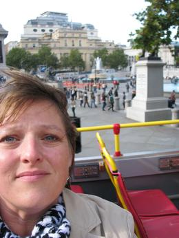 I had way too much fun taking pictures of my face with all the wonderful sights of London in the background., Kay W - October 2008