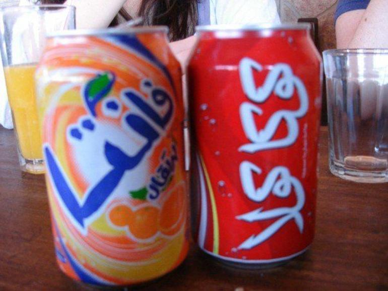 Sodas in Arabic! - Marrakech