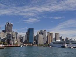 Circular Quay in Sydney - a view from the cruising ship , Darko P - April 2014