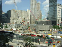 New buildings are rising from the ashes of the seven that went down. , Joseph P - July 2011