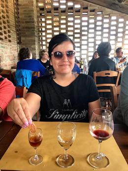 Me durng the wine tasting , raquelevillagrana - June 2017