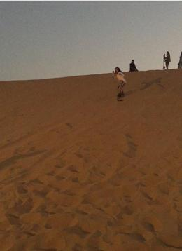 Sand boarding at the camp!, vbellanti - October 2016
