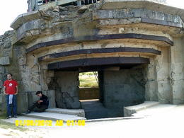 This was at Pointe du Hoc. The rangers learned later that the Germans had removed the artillery in this emplacement further to the rear. , John C - September 2012