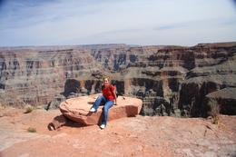 The obligatory snap at the Grand Canyon's West Rim, near the Skywalk in the Hulapai Nation. Don't forget your passports!, Christine O - April 2008