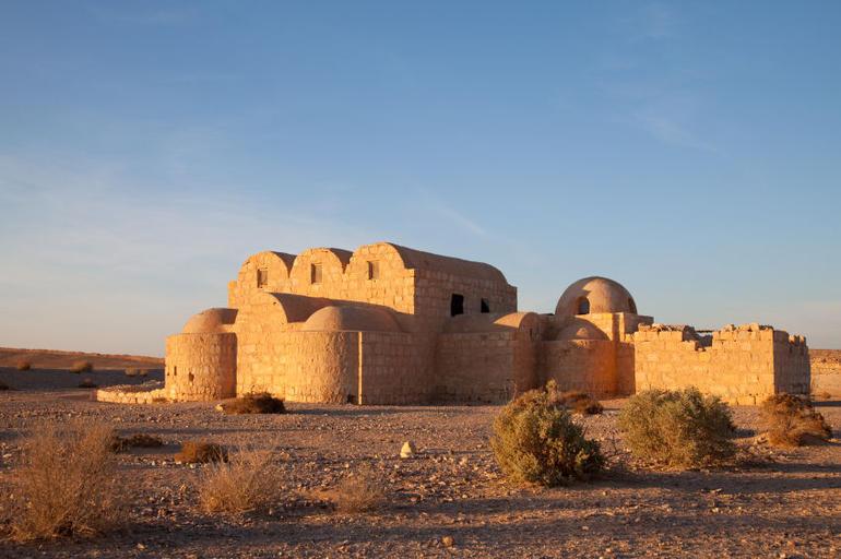 Jordan, Qasr Amra desert castle near Amman - Amman