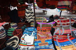 Bags for sale at the Otavalo market, Bandit - October 2013