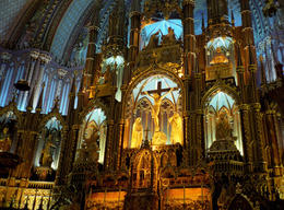 Main altar of the Notre-Dame Basilica in Montreal. - May 2011