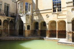 Photo taken on the lower level of the Roman Baths Museum., Kristen D - June 2010