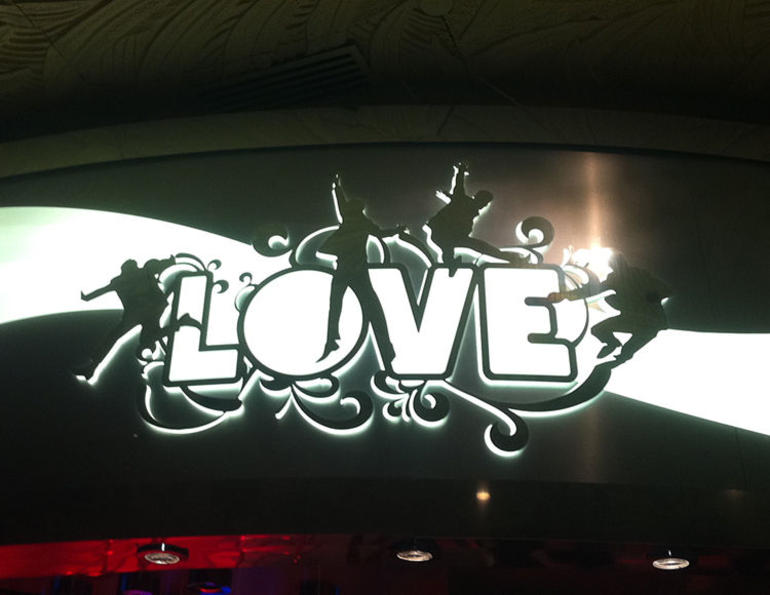 The Entrance to LOVE - Las Vegas