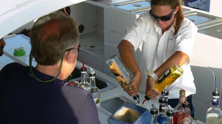 Thirsty on the Aruba Sunset Catamaran Cruise - Aruba