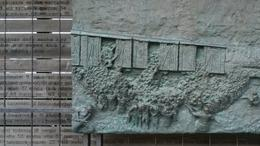 A very chilling plaque depicting the deportation of Jews from the Ghetto. , Marla J S - April 2017