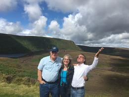 Kevin, Linda and our driver John having fun. , Kevin P - August 2017