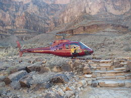 Inna with the copter at the landing site , vicki h - May 2014