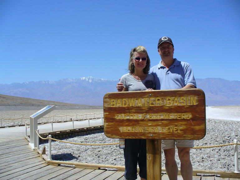 Badwater, Death Valley - lowest point in North America - Las Vegas