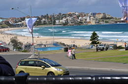 View of Bondi Beach from the Hop-on Hop-off bus , Judy G - December 2012