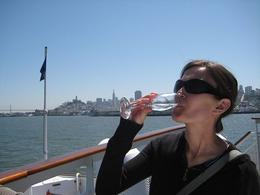 Relaxing and drinking champagne on a cruise is a fantastic way to spend a Sunday afternoon. - April 2008
