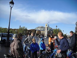 Our guide telling us lots of interesting facts about Paris!, sarahm - October 2012