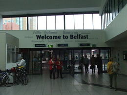 Train station in Belfast , Douglas S - August 2011