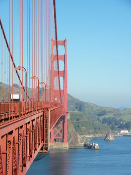 Walking/Biking the Golden Gate bridge is cool alternative to just drive across. On this beautiful February morning my husband and I decided to do just that. , Joy J - March 2011
