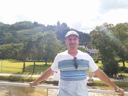 The famous Rhine Wine Valley behind me , Raymond L - July 2016