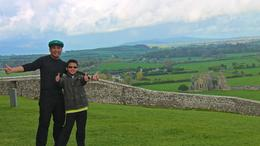 My son and I at the Rock of Cashel , JumpingNorman - May 2014
