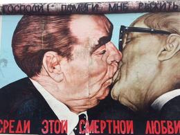 Soviet leader Leonid Brezhnev and Erich Honecker of East Berlin. and quot;May God please help me to survive this deadly love. and quot; , Lynn M - October 2014