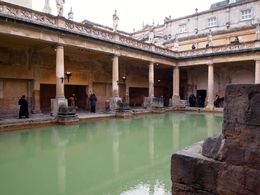 Self-guided tour inside the Roman baths. , Susan S - April 2015