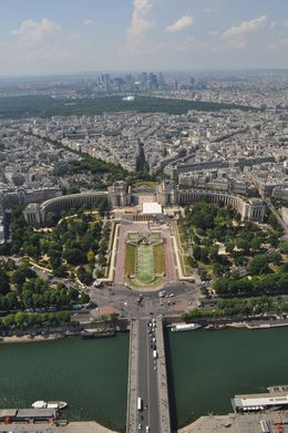 Here is a picture taken from the Eiffel Tower. , Scott R - June 2015