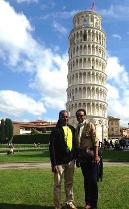 My wife and I at the Tower of Pisa , Adrian C - May 2017