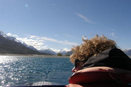 Heading back across the lake to Glenorchy., Tighthead Prop - March 2014