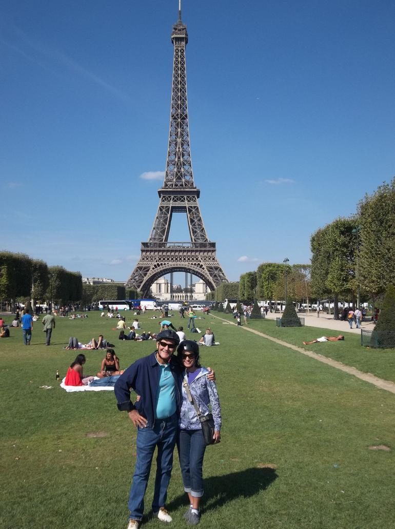Eiffel Tower - one of our stops on our segway tour. - Paris
