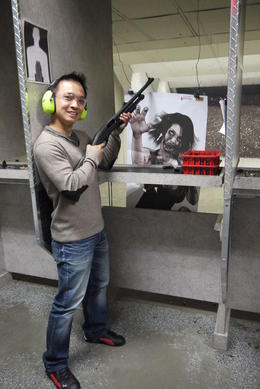 My first time handling shotgun. It's was great. Eat this babe... , David Yuen - May 2013