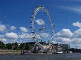 London Eye from river Thames , Robert L - July 2012