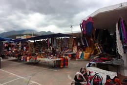 Walking up to Otavalo market, Bandit - October 2013