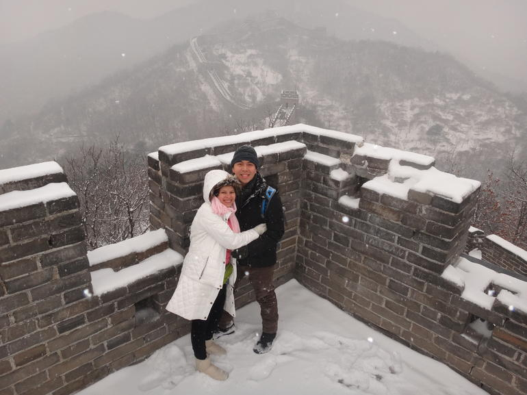 On top of one of the battlements - Beijing