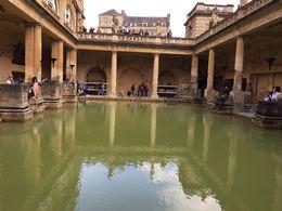 The main bath in the Roman bath house in Bath. , howardtopher - June 2016